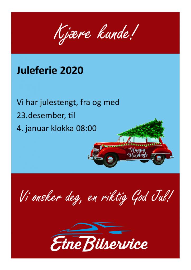 Juleferie 2020: Mellom 23. desember og 4. januar